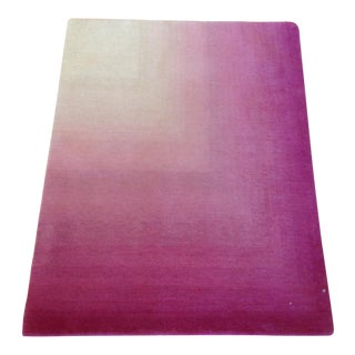 Pink & White Ombre Rug - 3′ × 4′