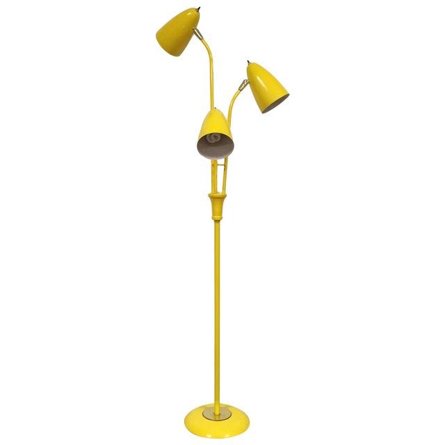 Image of Mid-Century Yellow Floor Lamp