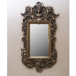 Image of Carved Wood Mirror With Gilt Finish