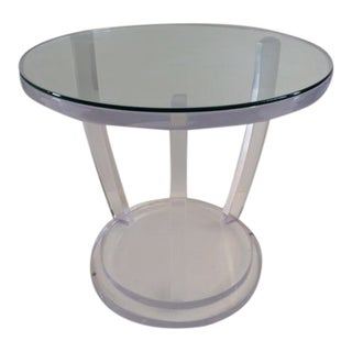 Custom Lucite Todd Hase Mykolas Cocktail Table