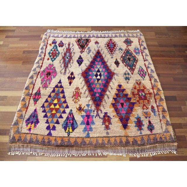 Moroccan Vintage Azilal Rug 4 11 215 5 3 Chairish