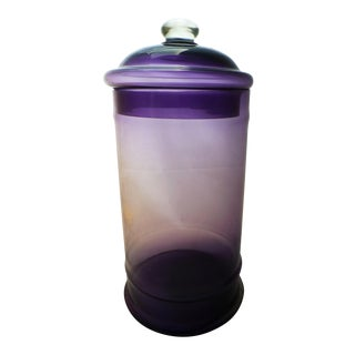 Mid-Century Italian Glass Apothecary Jar