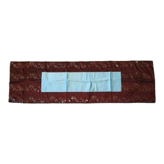 Aqua & Brown Sequined Table Runner