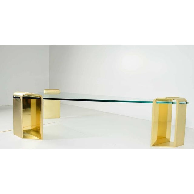Large Stunning Solid Brass Cocktail Table by Lorin Marsh - Image 3 of 7
