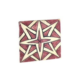 Hand Painted Small Moroccan Decorative Cement Tile
