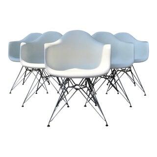 Vitra White Eames Chairs - Set of 6