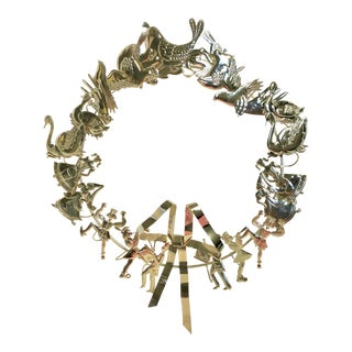 Dresden Brass Holiday Wreath