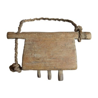 Carved Wooden Cow or Goat Bell