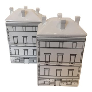 Architectural Canisters - a Pair