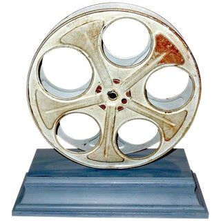 Motion Picture Cinema Reel Circa Mid-20th Century Mounted as Sculpture