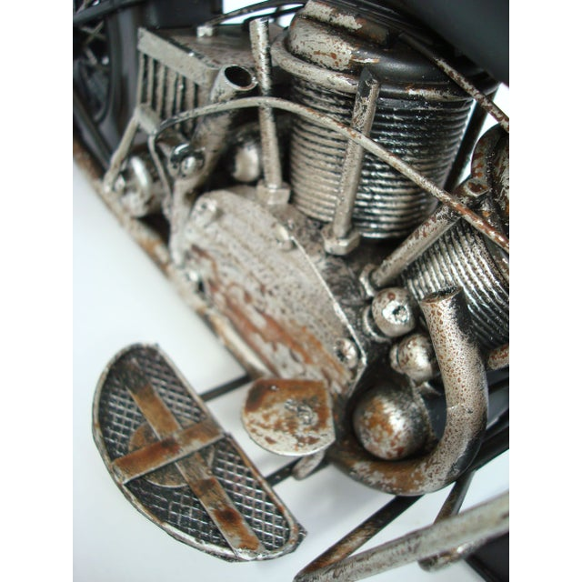 Metal Motorcycle With Moving Parts - Image 7 of 7