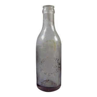 Embossed Central Texas Ice Amythest Mexia Teague Bottle