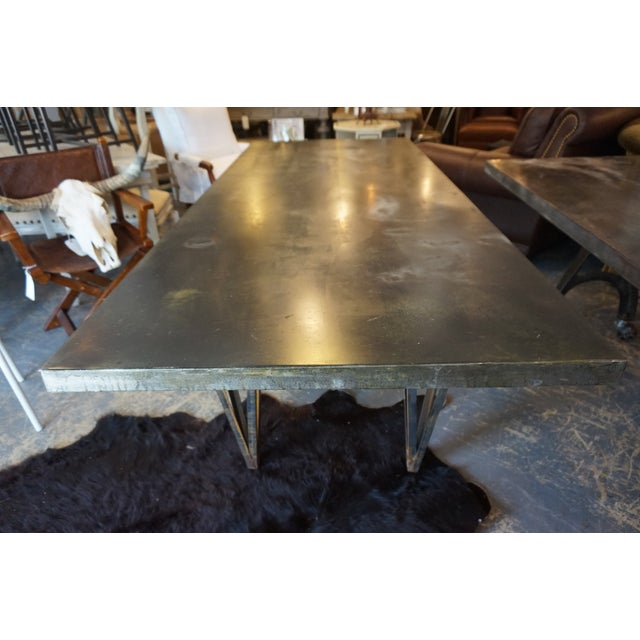 Large Zinc Dining Table - Image 2 of 4
