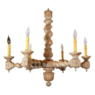 Carved Limed Oak Light Fixture