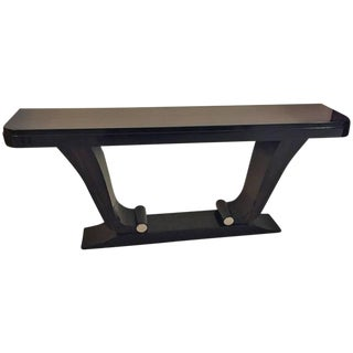 French Art Deco Exotic Macassar Ebony Console Table