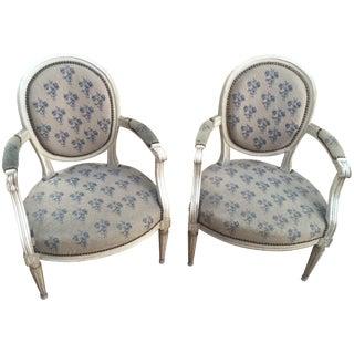 Antique French Louis XVI Chairs - A Pair