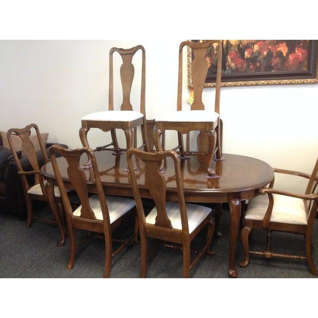 Ethan Allen Manor Queen Anne Dining Set Chairish