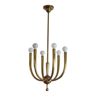 Brass Chandelier With Six Lights