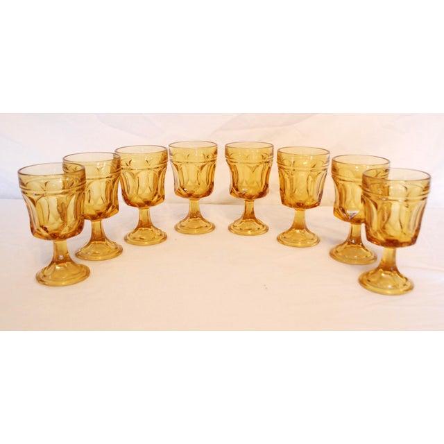 Libbey Amber Stemmed Wine Glasses - Set of 8 - Image 2 of 3