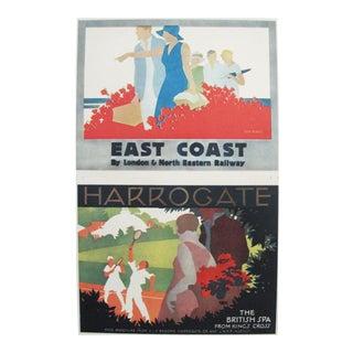 1920s Vintage Mini Travel Poster, East Coast Harrogate
