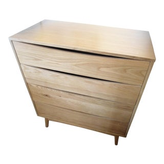 Mid-Century Style Oak 4-Drawer Dresser/Chest of Drawers