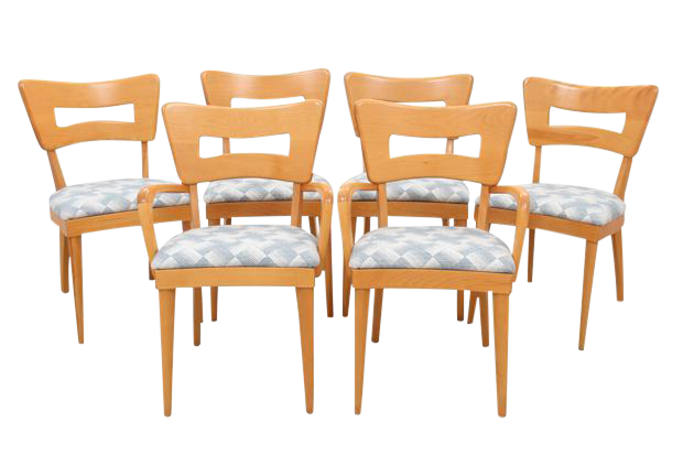 Heywood Wakefield Dog And Biscuit Dining Chairs   Set Of 6