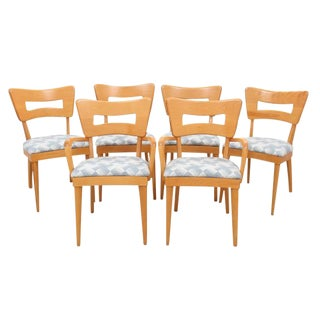 Heywood Wakefield Dog and Biscuit Dining Chairs - Set of 6