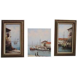California Coastal Paintings - S/3 Coast California