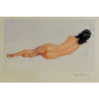 1950s Vintage Nude Lithograph