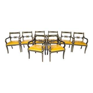 Maison Jansen Attributed Regency Style Armchairs - Set of 8