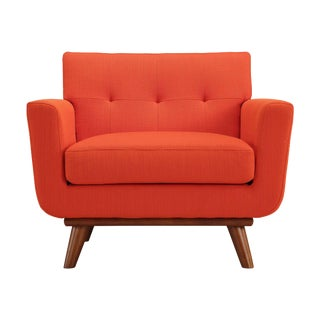 Tufted Red Armchair