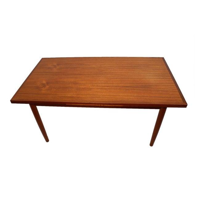 Danish Modern Teak Two-Tone Expanding Dining Table - Image 2 of 6