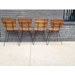 Image of Arthur Umanoff Style Wood & Iron Chairs - A Pair