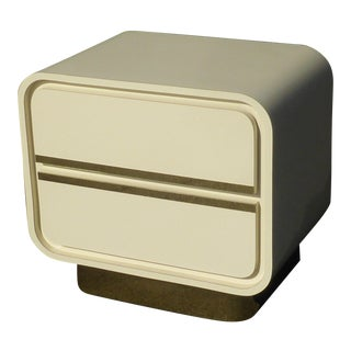 Vintage Mid Century Modern Retro 50's Style Rounded Nightstand