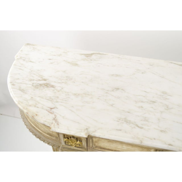 Marble-Topped French Style Console Table - 1940s - Image 3 of 8