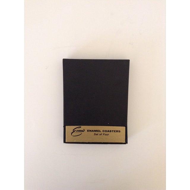 Vintage Pearl White Enamel Coasters - Set of 4 - Image 5 of 5