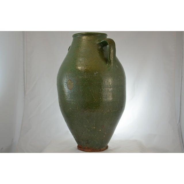 Turkish Oversize Dark Green Glazed Urn - Image 7 of 9