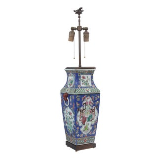 Chinese Hand Painted Ceramic Lamp