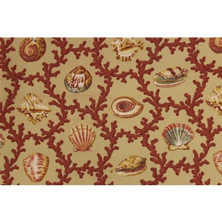 Vintage Williamsburg Seashell & Coral Pattern Fabric
