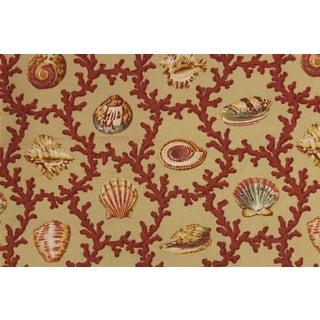 Vintage Williamsburg Seashell & Coral Pattern Fabric