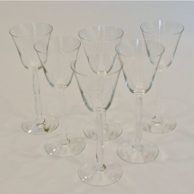 Image of Baccarat Crystal Onde Wine Glasses - Set of 6