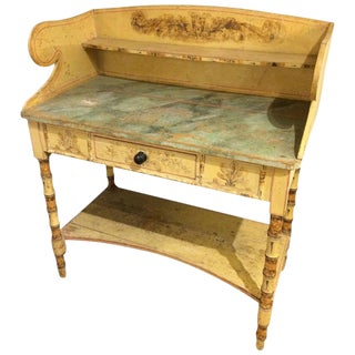 19th Century Hand Painted Wash Stand