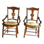 Image of Eastlake Style Wood Accent Chairs
