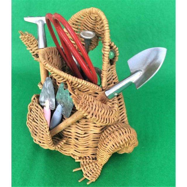 Wicker Frog Garden Tool Basket - Set of 6 - Image 4 of 6