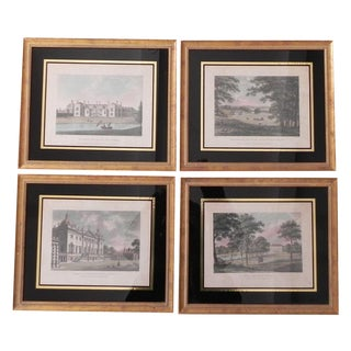 Antique Hand Colored Architectural Engravings - 4