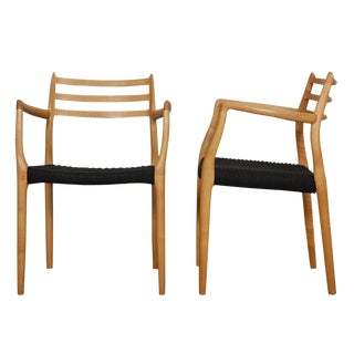 Niels Moller Danish Modern #62 Arm Chairs - A Pair