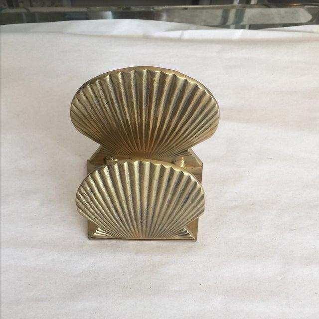 Vintage Brass Shell Letter Holder - Image 2 of 4