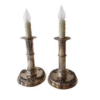 Silver-plate Candlestick Lamps
