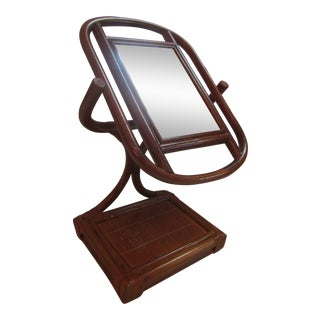Bamboo Framed Table Top Swivel Mirror