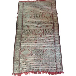 "Black and Red Moroccan Rug - 2'11"" x 6'5"""